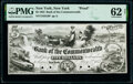 Obsoletes By State:New York, New York, NY- Bank of the Commonwealth $5 May 5, 1853 G8 Proof PMG Uncirculated 62 Net.. ...