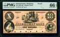 Allegheny, PA- Allegheny Bank $10 18__ as G10a as Hoober 5-3 Proof PMG Gem Uncirculated 66 EPQ