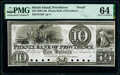 Obsoletes By State:Rhode Island, Providence, RI- Phenix Bank of Providence $10 18__ G32 Durand 1819 Proof PMG Choice Uncirculated 64.. ...
