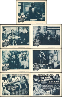 The Batman (Columbia, R-1954). Fine/Very Fine. Lobby Card Sets of 4 (11 Sets) & Title Card & Lobby Cards (2) ((1...