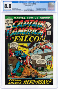 Captain America #153 (Marvel, 1972) CGC VF 8.0 Off-white to white pages