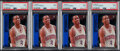 Basketball Cards:Lots, 1996 SP Allen Iverson PSA Mint 9 Graded Lot of 4. ... (Total: 4 items)