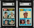 Baseball Cards:Lots, 1965 & 1977 Topps Baseball Hall of Famers Rookie Trio (3) With Two SGC Graded Cards. ... (Total: 3 items)