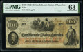 Confederate Notes:1862 Issues, T41 $100 1862 PF-13 Cr. 321A PMG Choice Uncirculated 63.. ...
