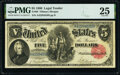 Large Size:Legal Tender Notes, Fr. 80 $5 1880 Legal Tender PMG Very Fine 25.. ...