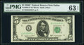 Small Size:Federal Reserve Notes, Fr. 1964-K* $5 1950C Federal Reserve Star Note. PMG Choice Uncirculated 63 EPQ.. ...