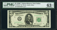 Fr. 1964-K* $5 1950C Federal Reserve Star Note. PMG Choice Uncirculated 63 EPQ