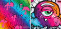 Prints & Multiples, Buff Monster (b. 1979). Melty Spray and Infinite Gradient (two works), 2019. Archival pigment prints in colors on Pe... (Total: 2 Items)