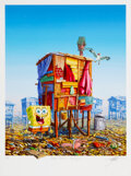 Prints & Multiples, Jeff Gillette (20th Century). Cartoon Shack - Spongebob, 2020. Giclee print in colors with collage on Hahnemuhle Photo R...