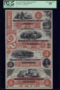 Obsoletes By State:Minnesota, St. Paul, MN- Treasurer of Ramsey County $1-$2-$3-$5 18__ Hewitt D1-2-D2-2-D3-2-D5-2 Uncut Sheet PCGS Choice About New 55....