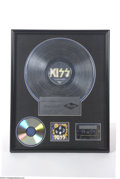 Music Memorabilia:Awards, KISS Mercury Records Sales Award - You Wanted The Best You Got TheBest (1996)....