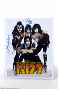 Music Memorabilia:Autographs and Signed Items, KISS Group Signed 16 x 20 Photograph....
