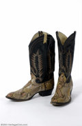 Music Memorabilia:Costumes, The Mamas and The Papas: John Phillips' Owned & Worn Snake Boots....