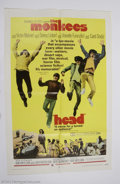 "Music Memorabilia:Posters, The Monkees: Original 1-Sheet Poster for ""Head"" (1968)...."