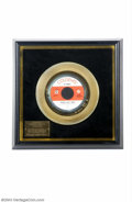 Music Memorabilia:Awards, The Monkees Gold Record Award - Pleasant Valley Sunday - 1967....