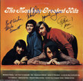 Music Memorabilia:Autographs and Signed Items, The Monkees Signed Album - Greatest Hits (1976)....