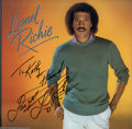 Music Memorabilia:Autographs and Signed Items, Motown: Lionel Richie Signed Album - Lionel Richie (1983)....