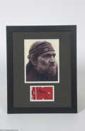 Music Memorabilia:Autographs and Signed Items, Willie Nelson Framed Signed Bandana Display....