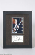 Music Memorabilia:Autographs and Signed Items, Les Paul Signed Framed Display....