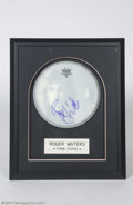 Music Memorabilia:Autographs and Signed Items, Pink Floyd: Roger Waters Signed Drumhead Display....