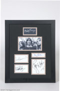 Music Memorabilia:Autographs and Signed Items, Pink Floyd Signed Framed Display....