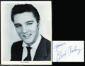 Music Memorabilia:Autographs and Signed Items, Elvis Presley Early Signed Photograph....