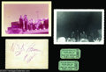 Music Memorabilia:Autographs and Signed Items, Elvis Presley Signed Photo and Concert Memorabilia - 1956....