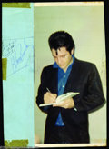 Music Memorabilia:Autographs and Signed Items, Elvis Presley Vintage Signature with Photograph....