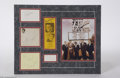 Music Memorabilia:Autographs and Signed Items, The Rat Pack: Matted Display With All Five Signatures....