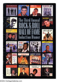 Music Memorabilia:Autographs and Signed Items, Rock and Roll Hall of Fame Signed Induction Dinner Program withMcCartney, etc....