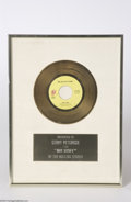 "Music Memorabilia:Awards, Rolling Stones Gold Record Award for ""Hot Stuff"", 1976...."