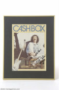Music Memorabilia:Autographs and Signed Items, Carlos Santana Signed Original Magazine Artwork....