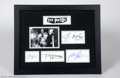 Music Memorabilia:Autographs and Signed Items, Sex Pistols Signed Framed Display....