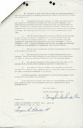 Music Memorabilia:Autographs and Signed Items, Nancy Sinatra Vintage Signed Document (1967)....