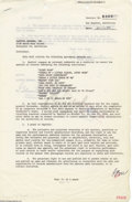 Music Memorabilia:Autographs and Signed Items, Frank Sinatra Vintage Signed Document (1958)....