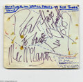 Music Memorabilia:Autographs and Signed Items, Small Faces Vintage Signed Album Page....