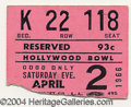 Music Memorabilia:Ephemera, Sonny & Cher Ticket Stub and Tour Program - Hollywood Bowl (1966).... (2 Items)