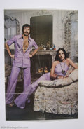 Music Memorabilia:Autographs and Signed Items, Sonny & Cher Signed Vintage Poster....