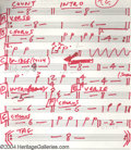 Music Memorabilia:Ephemera, Steely Dan: Donald Fagen's Kamakiriad Album Drum and ChordCharts....