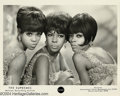 Music Memorabilia:Autographs and Signed Items, The Supremes Vintage Signed Photograph....