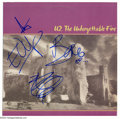 "Music Memorabilia:Autographs and Signed Items, U2 Signed Album Flat for ""The Unforgettable Fire""...."