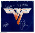 Music Memorabilia:Autographs and Signed Items, Van Halen Group Signed Album - Van Halen (1979)....