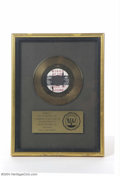 "Music Memorabilia:Awards, Wings RIAA Certified Sales Award - ""Silly Love Songs"" - 1976...."