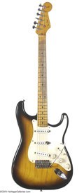 Musical Instruments:Electric Guitars, 1955 Fender Stratocaster Guitar used by the Yardbirds in 1965....