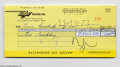 Music Memorabilia:Autographs and Signed Items, Frank Zappa Signed Check to Tim Buckley....