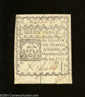 Colonial Notes:Connecticut, Connecticut October 11, 1777 7d Extremely Fine-About ...