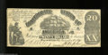 Confederate Notes:1861 Issues, T18 $20 1861. Even circulation and a few trivial edge ...