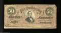 Confederate Notes:1864 Issues, T66 $50 1864. The upper right-hand corner tip has been ...