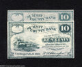 Obsoletes By State:Ohio, Cuyahoga Falls, OH- Summit County Bank 10¢ 1862 Two ... (2 notes)