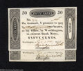 Obsoletes By State:Ohio, Worthington, OH- Ezra Griswold 50¢ Feb. 9, 1819 Two ... (2 notes)